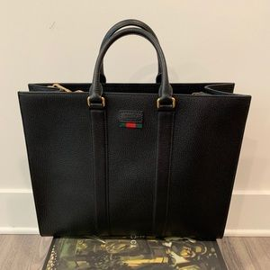 Gucci Leather Tote with detachable shoulder strap